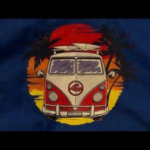Vintage Tops - blue vintage graphic bus hawaii long sleeve tee